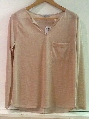 Charlotte Russe Tan Beige Long Sleeve Knit Top Shirt S Small NWT New *