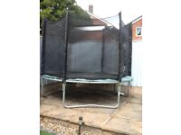 8ft trampoline (Plum) with safety net