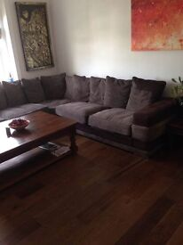 Large corner sofa from Furniture village 9 x9 feet in good condition and extremley comfortable.
