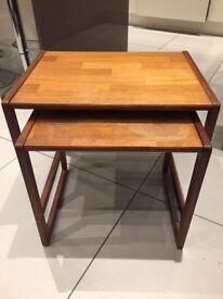 G plan teak x 2 side table
