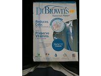 Dr Brown natural flow starter kit reduces colic