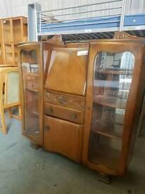 Large vintage display cabinet