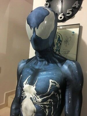 venom symbiote spiderman costume cosplay zentai spider-man suit for Adult/Kids