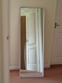 Full length mirror with frame length 53inches. Width18inches