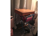 Childrens Wooden school desk with matching chair