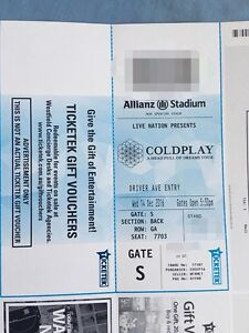 Selling Cold Play Ticket Silver Standing Cabramatta West Fairfield Area Preview