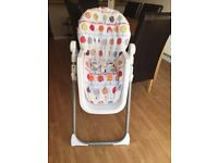 Mamas and Papas Pesto Deluxe Folding Highchair x2