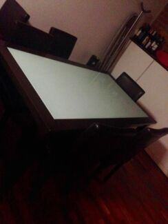 Glass Top Dining table & 6 Chairs New Farm Brisbane North East Preview