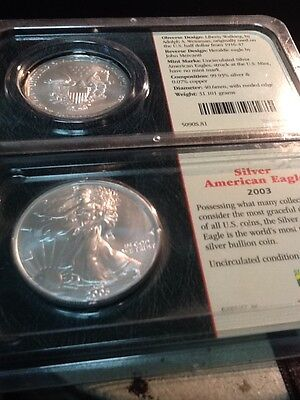 2003 Silver 1 oz. American Eagle .999 BU ~ Littleton Pack on Rummage