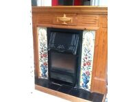 Wooden /Tiled Fireplace with electric Fire
