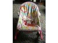Baby chair vibrating pink multi £15