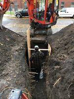 Mini Excavation Drain Français