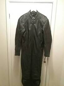 Full leather bike suit