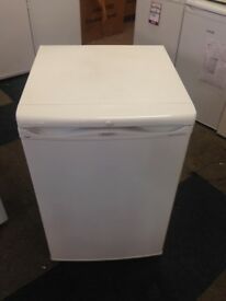 white hotpoint undercounter fridge freezer