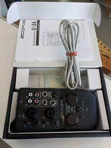 Interface audio Zoom U-24 Mint condition