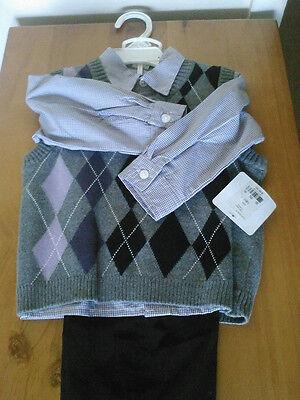 Make an offer 18 Months 3-Piece Argyle Sweater Vest Set, free shipping 3 Piece Argyle Vest