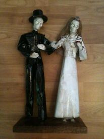 Mexican Day of the Dead Couple - Goth Wedding Decoration