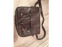 River island leather look satchel/ Man bag