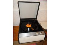 Vintage retro 1960s Dansette record player, manual in full working order.