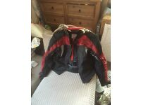 Motorbike jacket size xxl with removable thermal layer and back shoulder and elbow protection