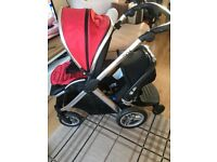 Oyster max with britax car seat & buggy board