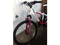 Ladies / Girls Mountain Bike Barracuda Impulse White and Pink