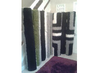 new pattern shaggy rugs black white and grey or green striped LARGE 160 x 230cm