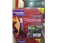 Kingfisher Garden Chiminea Tower Black