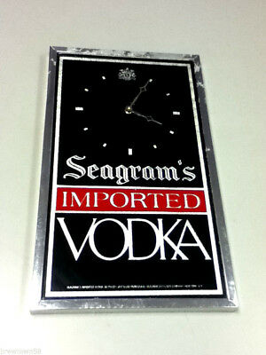 Seagram's bar sign liquor wall clock vodka imported battery operated working YM8