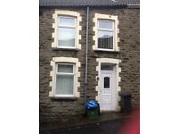 3 BED TERRACE TREHARRIS CLOSE TO SHOPS AND LAKES LONG LET