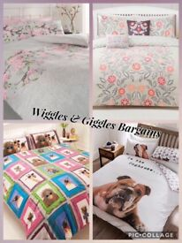 Selection of Duvet sets available sizes and pics below.
