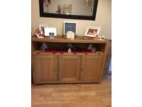 oak sideboard and matching tables