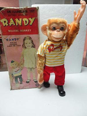 Vintage 1960s Original Randy Walking Monkey by Illfelder Japan RARE!