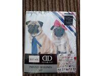 Pug Double Duvet Cover Set