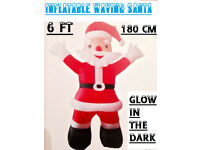 LARGE LED ROMAN CONRAD INFLATABLE 6ft 180cm SANTA,FATHER XMAS indoor/outdoor use NEW, and BOXED