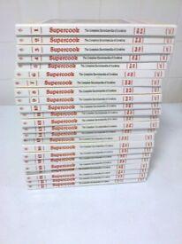 set of 23 supercook books