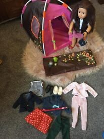 My Generation doll with tent