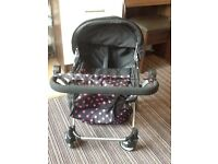 Double/twin dolls pushchair