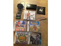 Black Nintendo DS Bundle Including Charger, stylus, instruction book and games