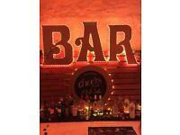 Bar Backdrop - huge lettering - wedding Event