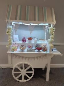 Sweet Candy Cart Stall Stand Hire Rental Wedding Parties Anniversary