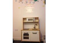 Childrens Kids Wooden Kitchen Home Fun Play Toy Unit