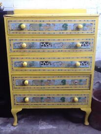 Chest of drawers for child.