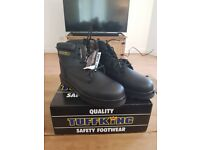 Tuffking Black Leather Uniform Ankle Boot SIZE 8 and 10 NEW!