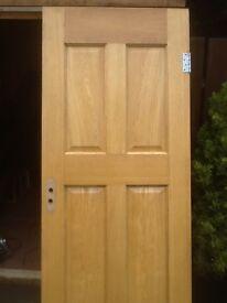 Solid oak wooden doors