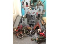E L C Castle of doom and medieval castle with many figures and characters