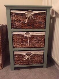 Wicker Drawers painted in Annie Sloan