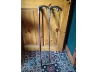 Horn handle silver stick