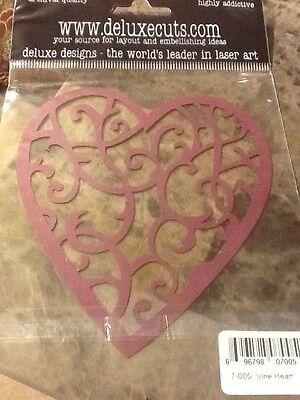 DELUXE CUTS Laser Die-Cut Vine Heart Cardstock Laser Die Cuts