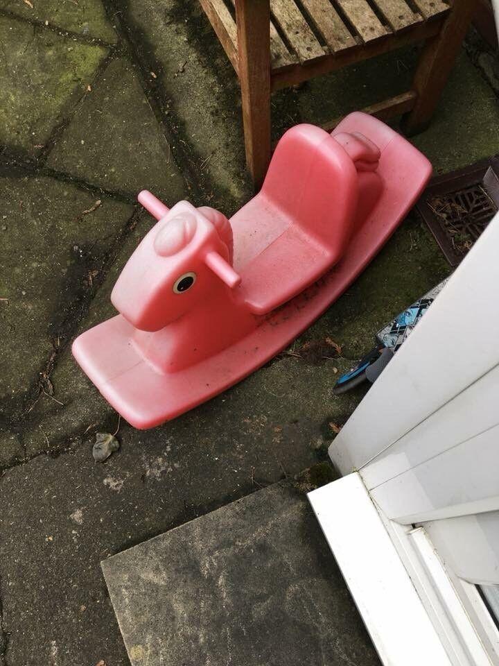 Garden rocking horse